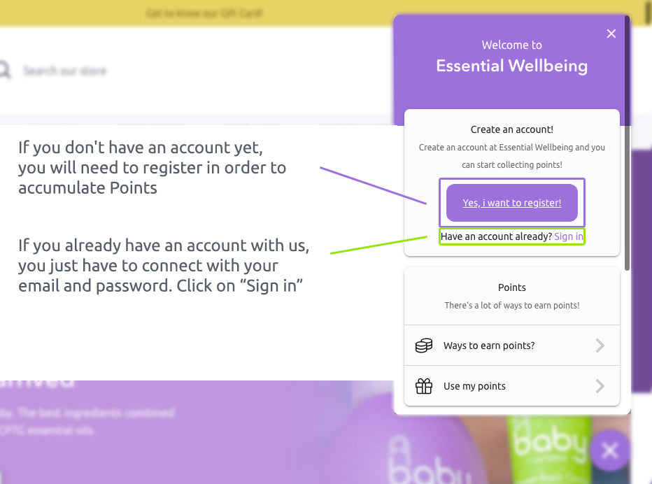 create account or sign-in