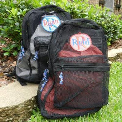 Monogrammed Mesh Backpack