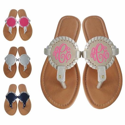 Monogram Medallion Sandals