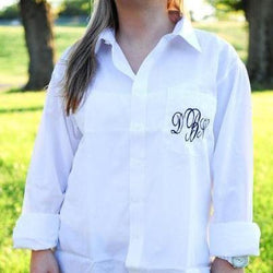 Monogram Bridal Button Down