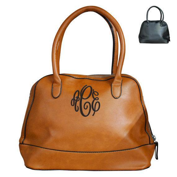 Monogram Shell Leather Handbag