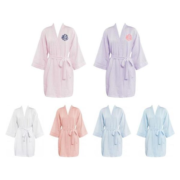 Monogram Seersucker Robes