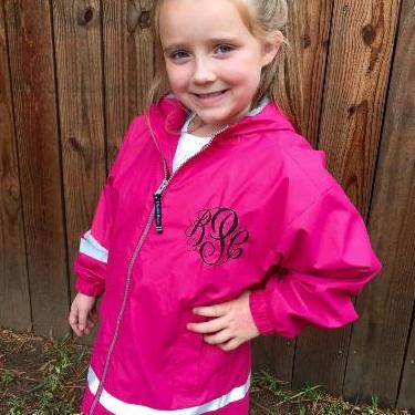 Kid's Monogrammed New Englander Rain Jacket