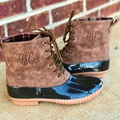 Short Monogram Duck Boots