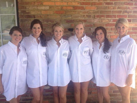 Bridesmaid Button Down Shirts