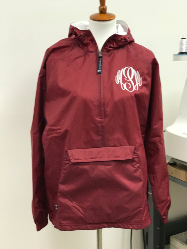 Monogram Half Zip Rain Jacket Pullover by Charles River Apparel