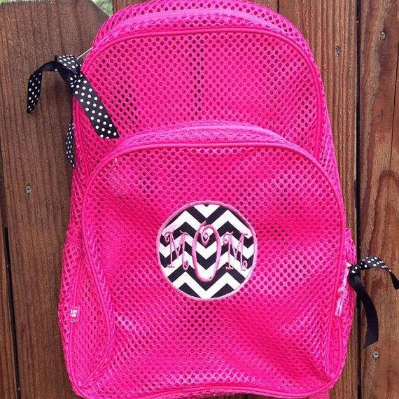 Mesh Backpack with Monogram