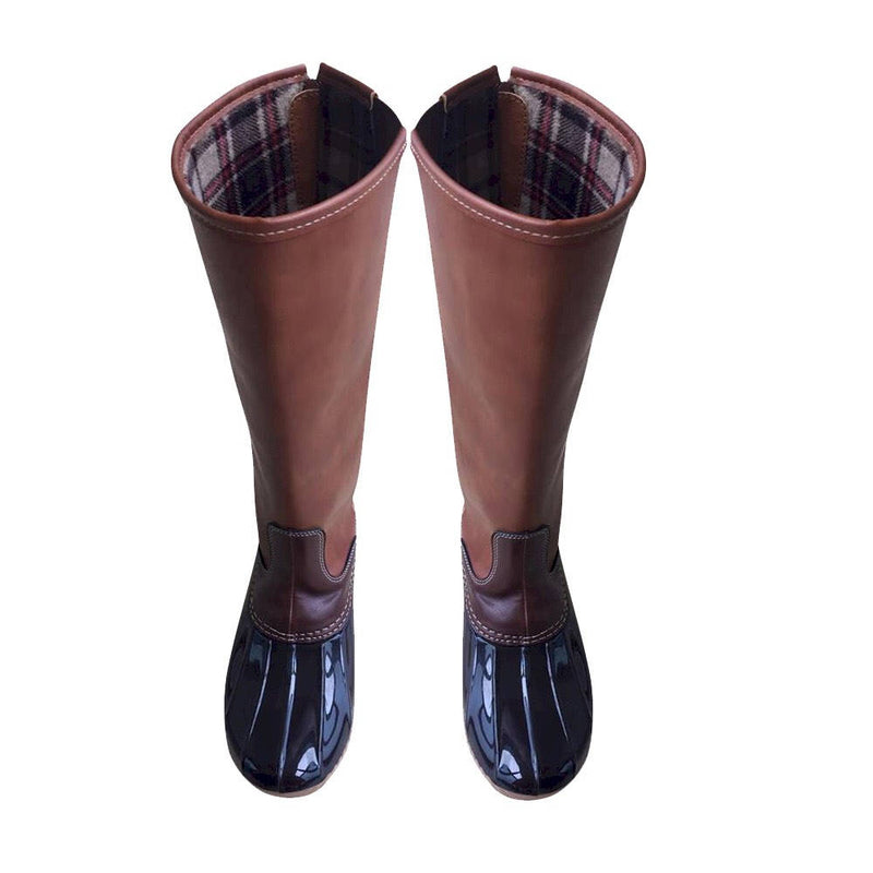 Monogram Leather Tall Duck Boots