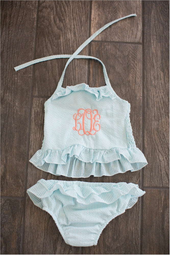 KId's Seersucker Swim Suit