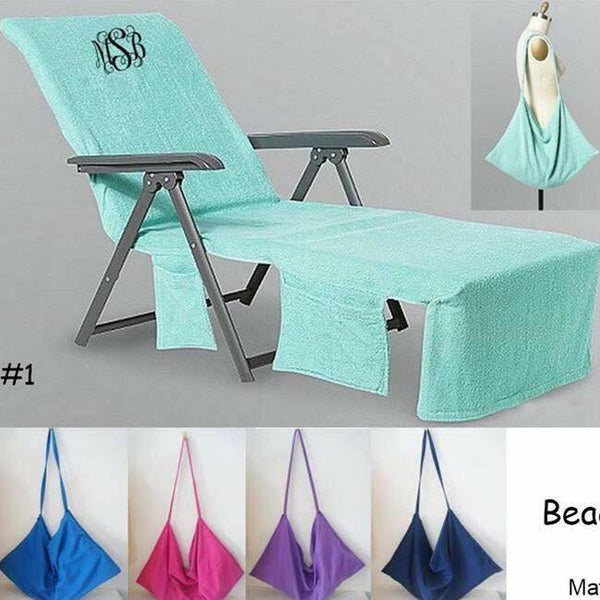 Monogram Beach Chair Cover Towel