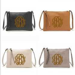 Monogram Crossbody Purse Wristlet