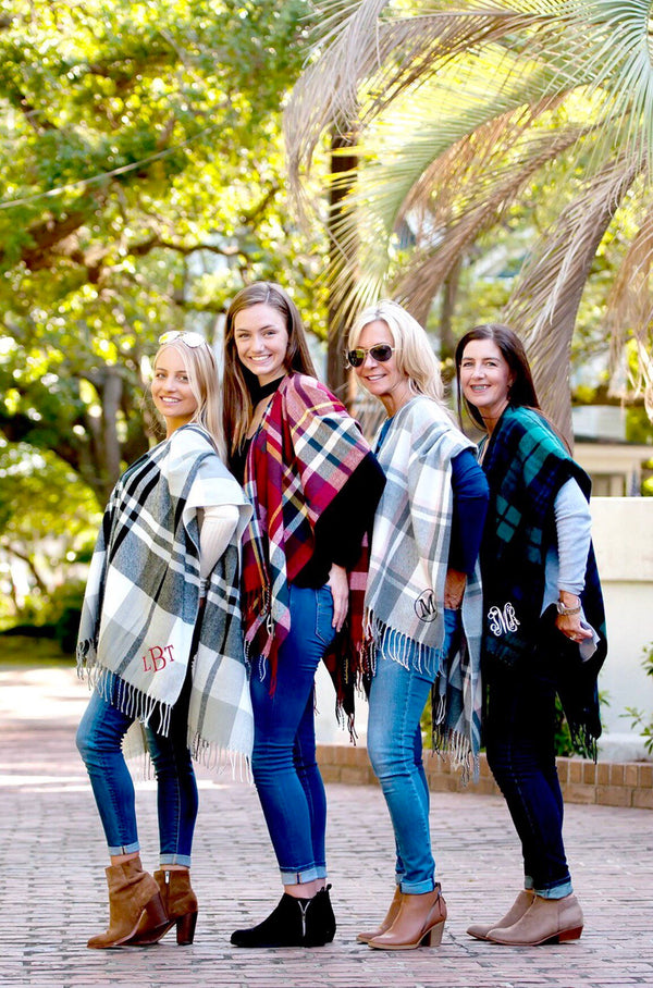 Monogram Blanket Scarves