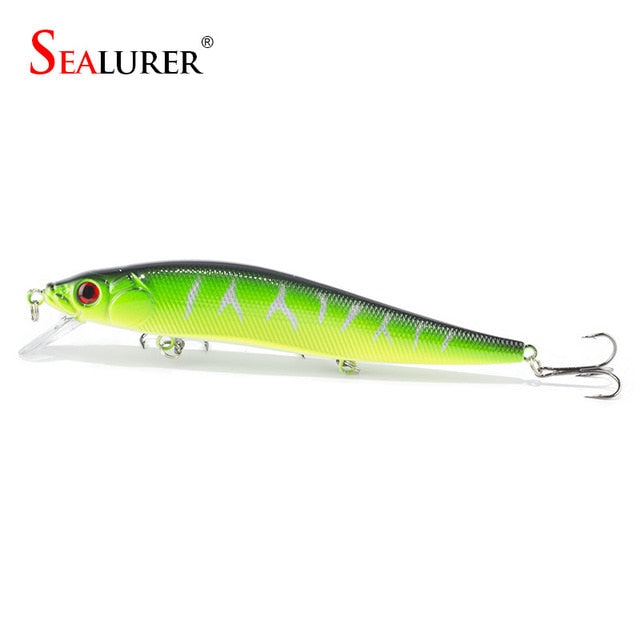 1PCS/lot 14 cm 23.7 g Fishing Lure Minnow Hard Bait with 3 Fishing Hooks Fishing Tackle Lure 3D Eyes Free Shipping