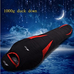 Ultralight Down Sport Hiking Sleeping Bags Outdoor Winter Camping Duck Down Adult Mummy Waterproof Sleeping Bags 3 Colour