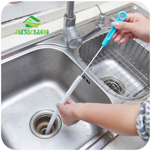 Sewer Cleaning Brush,Home Bendable Sink Tub Toilet Dredge Pipe Snake Brush Tools Creative Bathroom Kitchen Accessories
