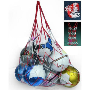Outdoor Sports Soccer Carry Bag Portable Sports Rope Equipment Football Balls Volleyball Ball Mesh Bag Can Hold 10 Balls