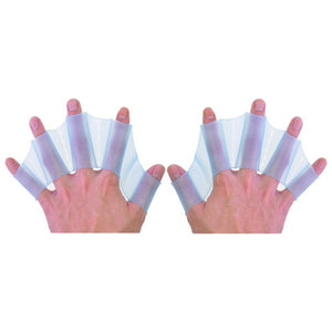Generic Silicone Swim Gear Fins S,M,L,Hand Webbed Flippers Training Glove Blue