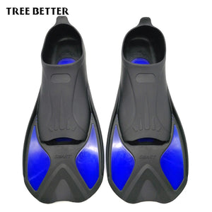 TREE BETTER Swimming Fins Adult Snorkeling Foot Flipper KIDS Diving Fins Beginner Swimming Equipment Portable short Frog shoes