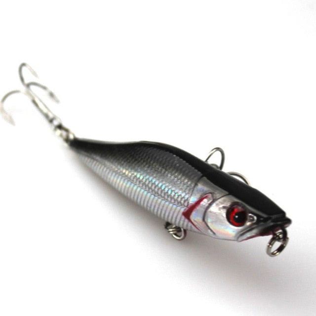 Walk Fishing 1Pcs 7cm 7.2g Popper Fishing Lures 3D Eyes Bait Crankbait Wobblers Isca Poper Pesca Japan fishing tackle