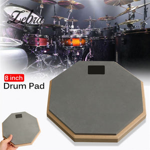 Zebra 8 inch Rubber Wooden Dumb Drum Practice Training Drum Pad For For Percussion Instruments Parts Accessories