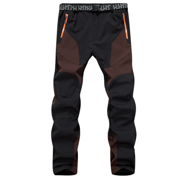 Ski pants Hiking New Men Male waterproof windproof autumn Winter outdoor sports climbing soft shell more fleece