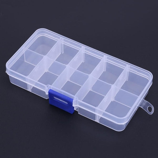 Waterproof 10 Compartments Eco-Friendly Plastic Fishing Tackle Box Portable Fishing Lure Hook Rig Bait Storage Case Pesca Tackle