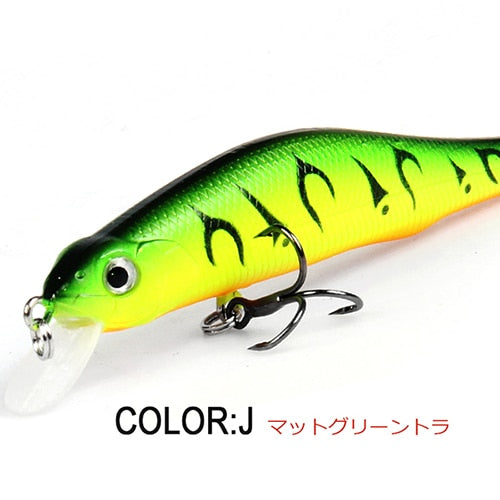 Retail A+ fishing lures, assorted colors, minnow crank  80mm 8.5g,magnet system. bearking 2016 hot model crank bait