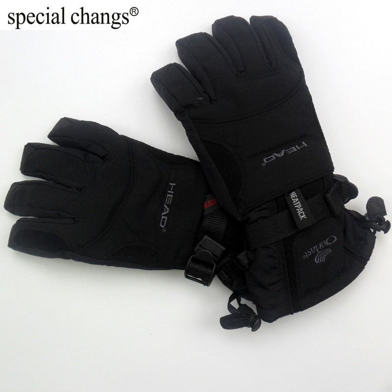 Free Shipping Professional head all-weather waterproof thermal skiing gloves for men Motorcycle winter waterproof sports outdoor