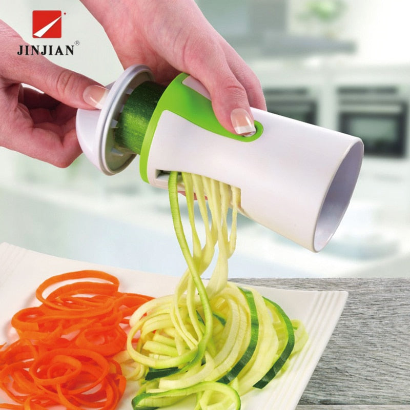 JINJIAN Vegetable Spiralizer Fruit  Grater Spiral Slicer Cutter Spiralizer for Carrot Cucumber Courgette Kitchen tools gadget