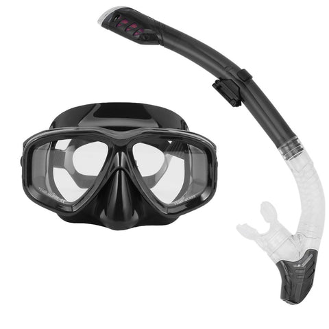 REIZ Professional Diving Masks Goggle Full Dry Silicone Snorkel Tube Set Men Women Diving Swimming Water Sports Equipment