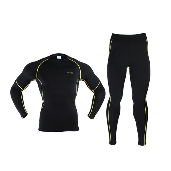 Thermal Skiing Underwear Sets Long Johns Warm Up Men Ski Snow Jacket and Pants Quick Dry Clothing For Winter Outdoor Sports