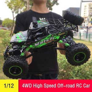RC Car 1/12 4WD Remote Control High Speed Vehicle 2.4Ghz Electric RC Toys Monster Truck Buggy Off-Road Toys Kids Suprise Gifts