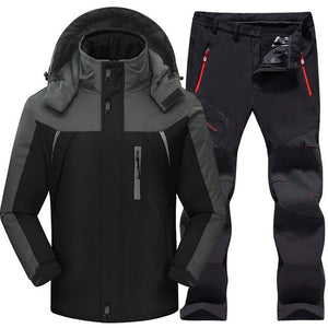 Outdoor Ski Suit Men's Windproof Waterproof Thermal Snowboard Snow Skiing Fleece Jacket And Pants sets Men Winter Sports Clothes
