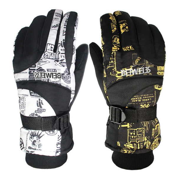 Winter Warm Windproof Ski Gloves Outdoor Sports Comfortable Men or Women Snowboard Gloves or Skiing Gloves