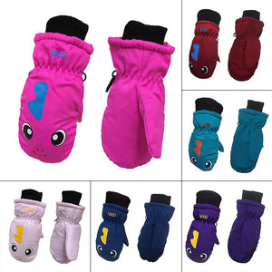 New Children Kids Thickening Mittens Warm Skiing Gloves Lovely Winter Snow Waterproof Windproof Sports Riding Cycling Gloves