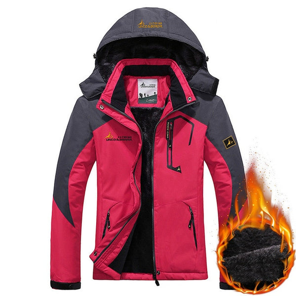 Women Ski Jacket Winter Windproof Waterproof Warm Fleece Snow Snowboard Jackets Outdoor Sports Female Mountain Hiking Coats