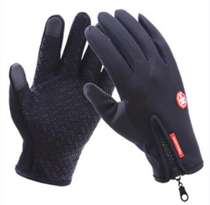 Queshark Men Women Ski Gloves Winter Warm Skiing Gloves Outdoor Sports Touch Screen Waterproof Anti-slip Gloves 5 Asian sizes