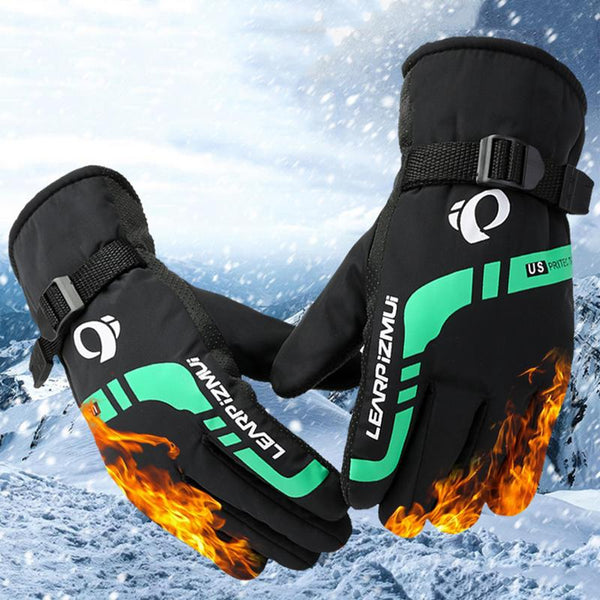 Warm Ski Gloves For Men Winter Outdoor Sports Motorcycle Riding Equipment Windproof Thickening Snowboard Ski Thermal Gloves