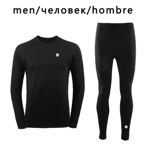 Men Winter Sports Accelerate Dry Thermal Skiing Underwear Men Warm Long Johns Ski Jacket and Pants For Ski/Hiking/Snowboard