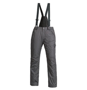 New Outdoor Sports Fleece Men Ski Pants Suspenders Windproof Waterproof Warm Thicken Winter Snow Snowboard Trousers