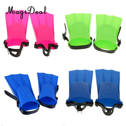 MagiDeal Adults Adjustable Flippers Fins Swimming Diving Learning Tools S/M/L/XL for Swimming Snorkeling Diving Fins Children