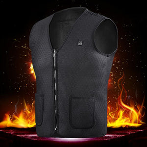2018 New Men Women Electric Heated Vest Heating Waistcoat Thermal Warm Clothing Smart USB Charging Winter For Sports Hiking