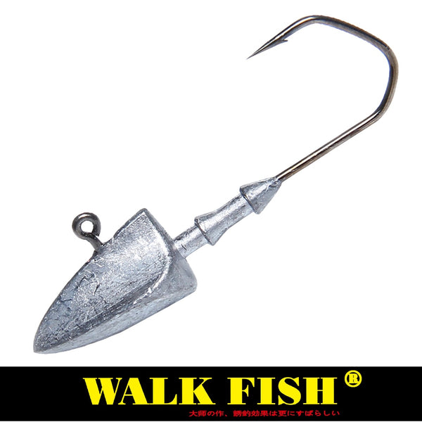 Walk Fish 5Pcs/Lot Head Hooks 3.5g 5g 7g 10g 14g 20g Lead Head Hook Lure Hook Jig Head Multicolor Fishing Tackle Hooks HH021