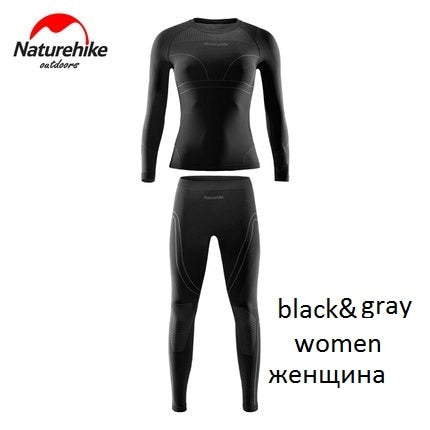 Naturehike Men and women Winter Gear Ski Thermal Underwear Sets Long Sleeve Top Sports Snowboarding Shirts And Pants Clothes