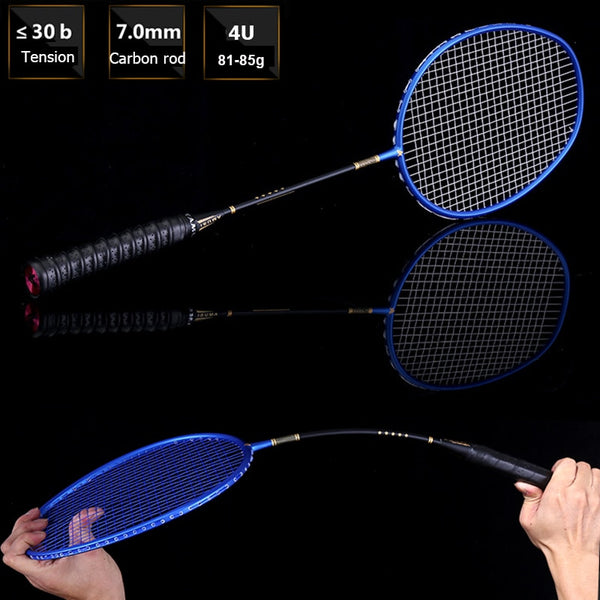 LOKI Ultra Light Full Carbon Badminton Racket Professional Men's Training Badminton Racquet 83g 22-30 LBS
