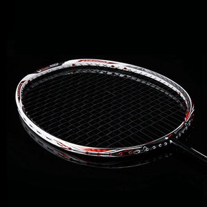 LOKI N90III Professional Carbon Badminton Racket 7U 67g 30 LBS Strung Badminton Racquet Sports Equipment with Grips