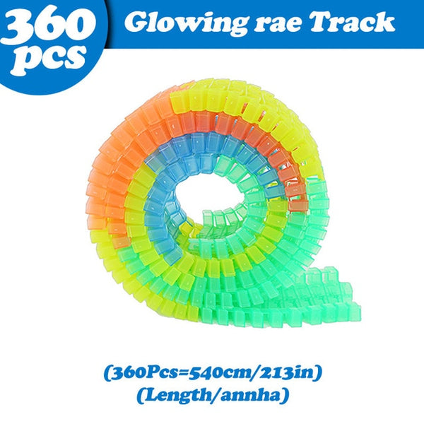 5.5cm DIY Universal Accessories for Glow in the Dark  Magical Track Educational Rail Car Toy Racil Tracks Car Kids For Toys Gift