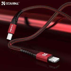 Coolreall 36W MFi Gecerrtificeerde USB C naar Lightning Kabel voor iPhone, iPad