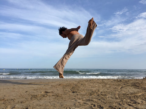 Thai Fisherman Pants Muang Cotton Latte Capoeira Style