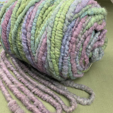 Chunky Yarn Core Spun Icelandic Yarn - Blueberry Sherbet - 4 oz 13 yards - Copia Cove Icelandic Sheep & Wool